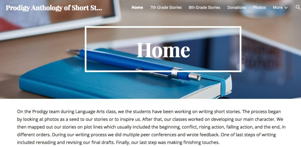 A student-led short story unit at Crossett Brook - Innovation: Education