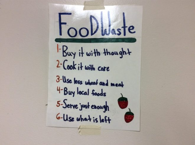 thinking about food waste and vt jr iron chef competition