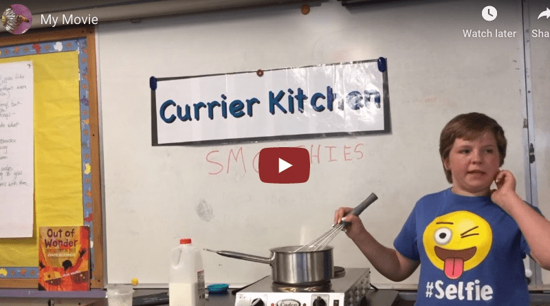 Currier School cooking videos