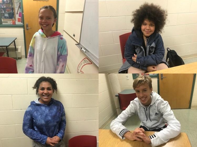 students from Crossett Brook Middle School