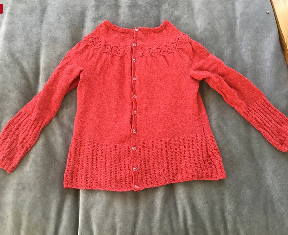 knitting and algebra: the finished Tangled Yoke cardigan