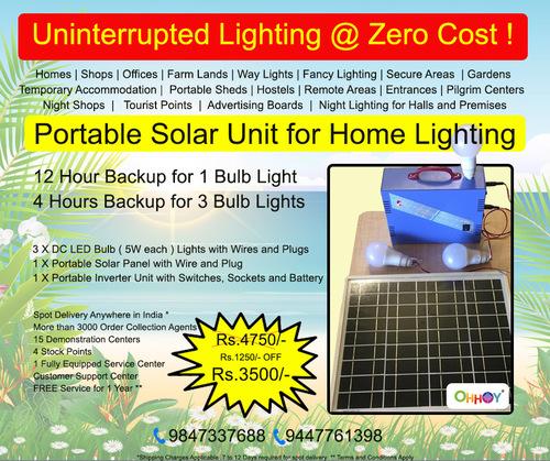 portable home solar lighting kit