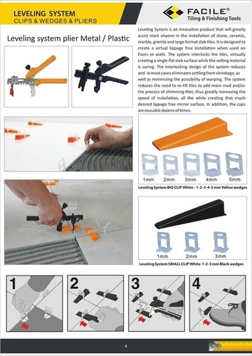 facile tile leveling system wedges and clip