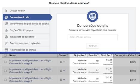 Facebook simplifica criação de anúncios