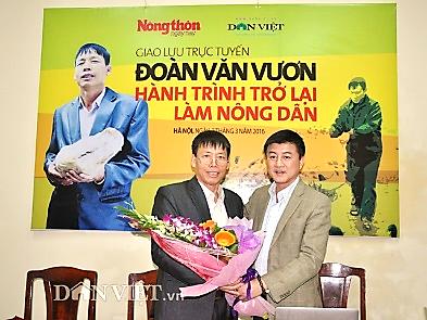 Giao lưu trực tuyến: Ông Đoàn Văn Vươn - hành trình trở lại làm nông dân