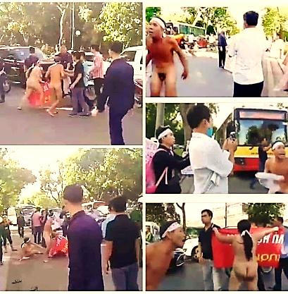 Người phụ nữ khoản thân chặn xe Quốc hội đòi công lý bị an ninh Cộng sản bắt cóc