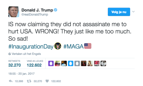 Tweet Donald Trump