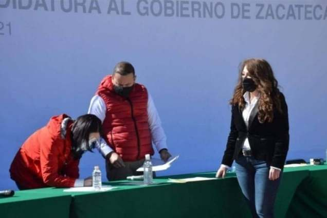 LAS PRIISTAS CLAUDIA ANAYA Y LILA ULLOA SE REGISTRAN COMO ASPIRANTES A GOBERNAR ZACATECAS..1
