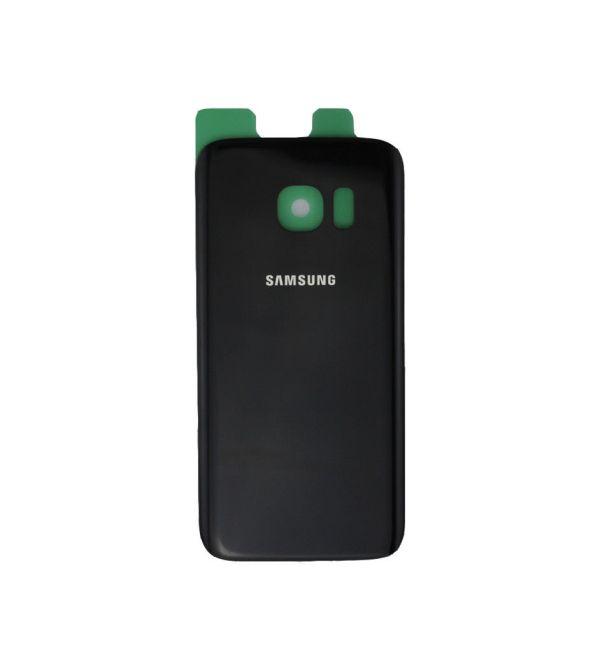 Samsung S7 Edge זכוכית אחורית - שחור