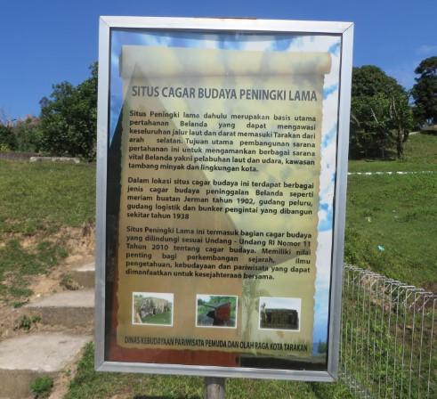 situs cagar budaya peningki lima tarakan