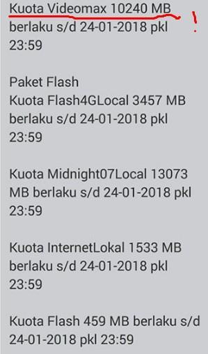 Kuota Videomax Telkomsel 10 Gb