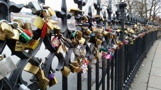 Locks on Charles Bridge Prague (2)
