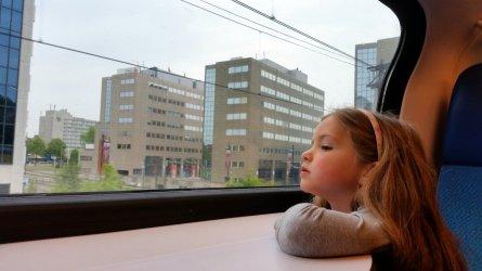 Saar in de trein - vetrek Eindhoven