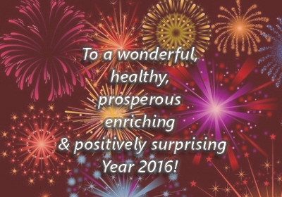 To a happy 2016 and positively unforgettable year!