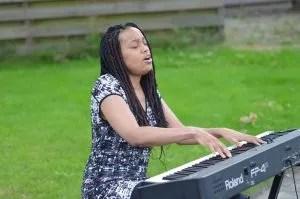 Tiki Black tolbert garden concert