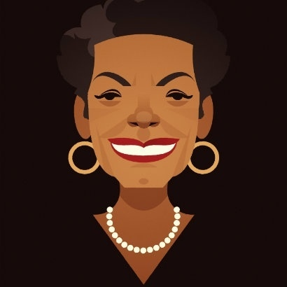 Maya Angelou Cabaret for Freedom - Illustration by Stanley Chow