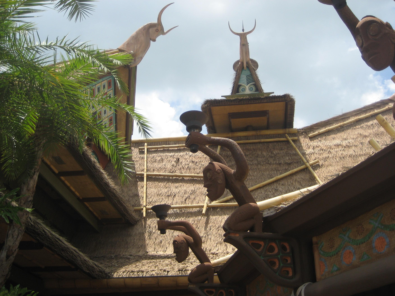 Outside the Enchanted Tiki Room