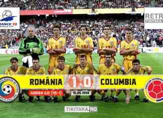 romania 1-0 columbia 1998