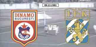 Dinamo IFK Goteborg 1981