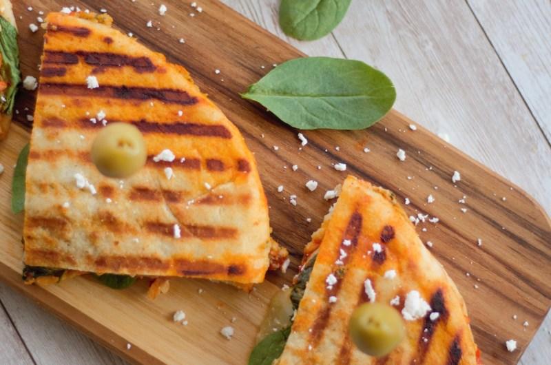 Green Olive Hummus Panini