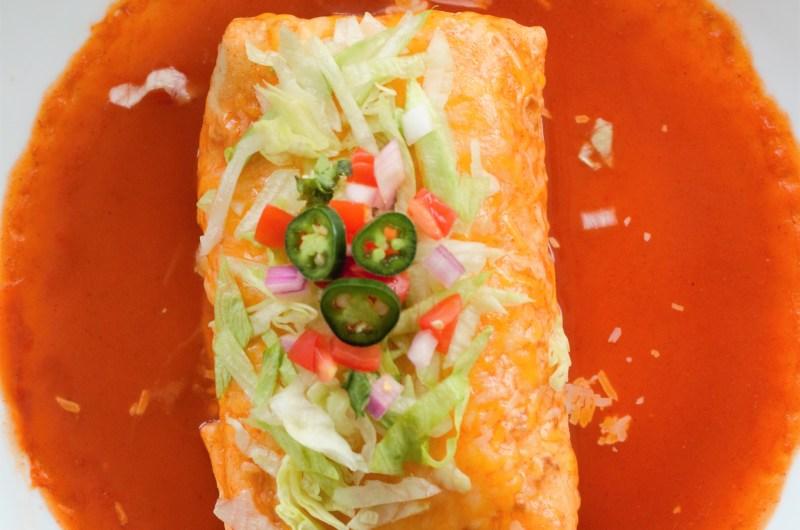 Smothered Veggie Burrito