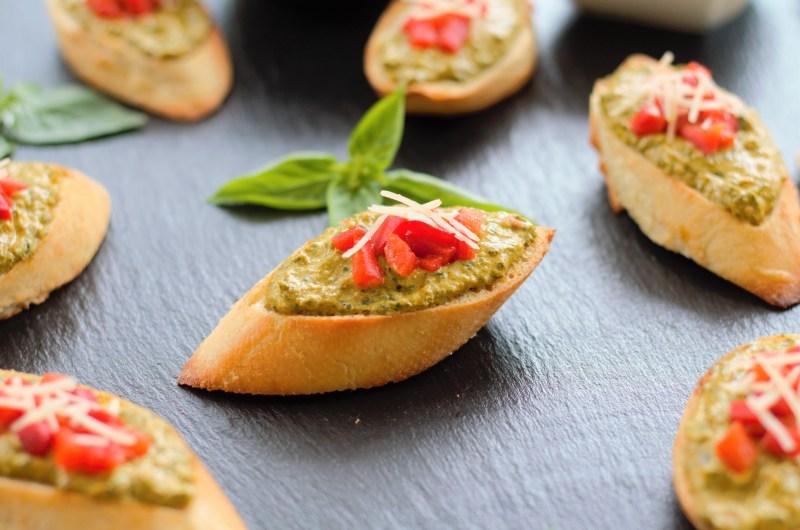 Calabrian Chili Ricotta Crostini