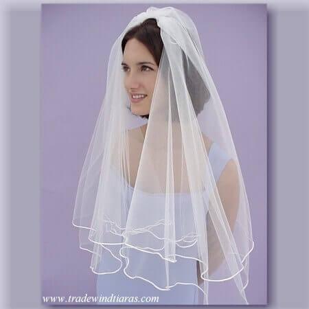 center gathered wedding veil tutorial