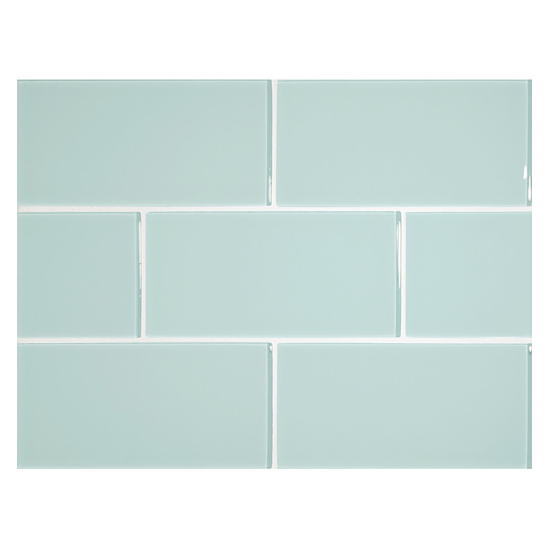 glass expressions tile 3 x 6 pale
