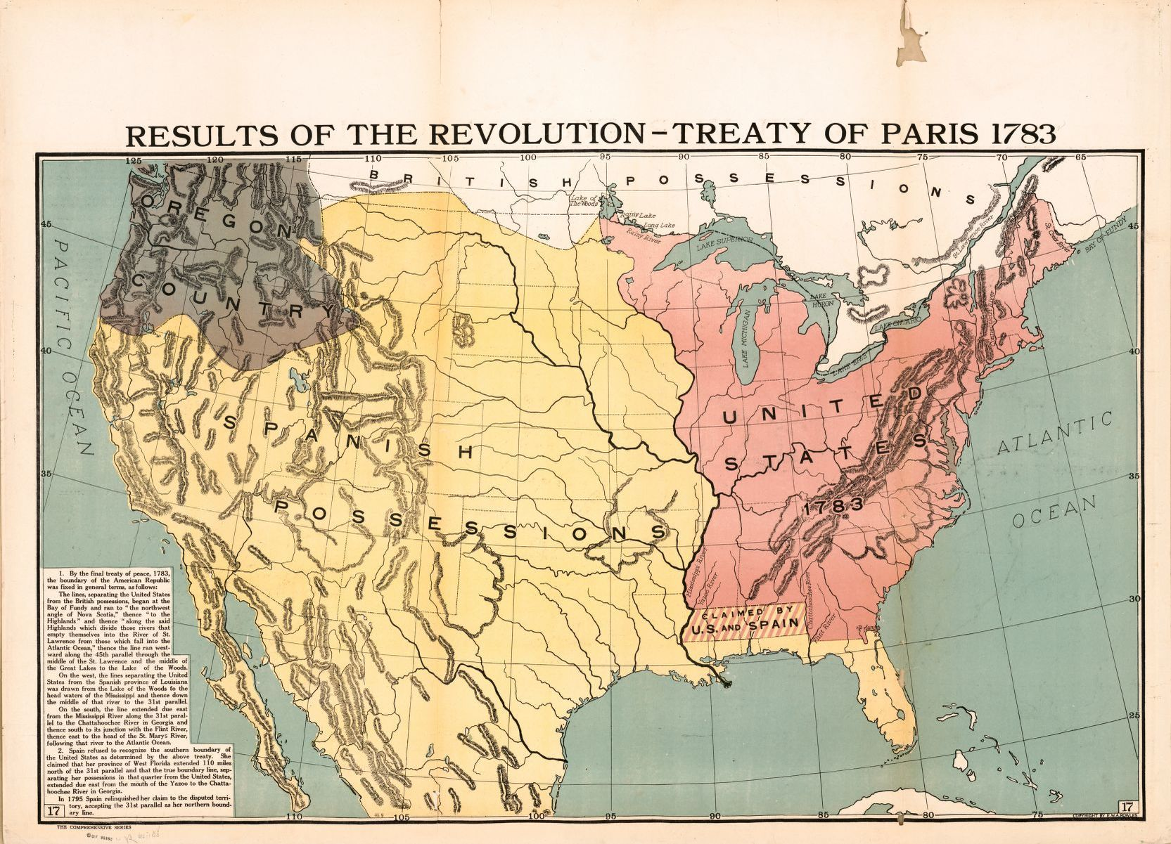 Results of the Revolution   Treaty of Paris 1783   Library of Congress Map Results of the Revolution   Treaty of Paris 1783 Full Set