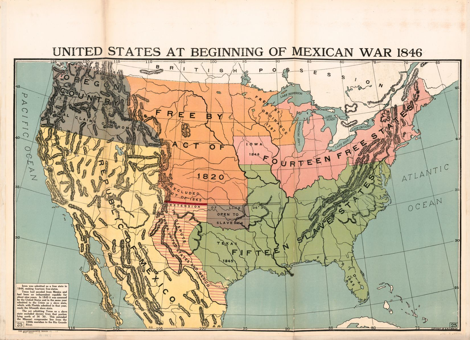 United States At Beginning Of Mexican War