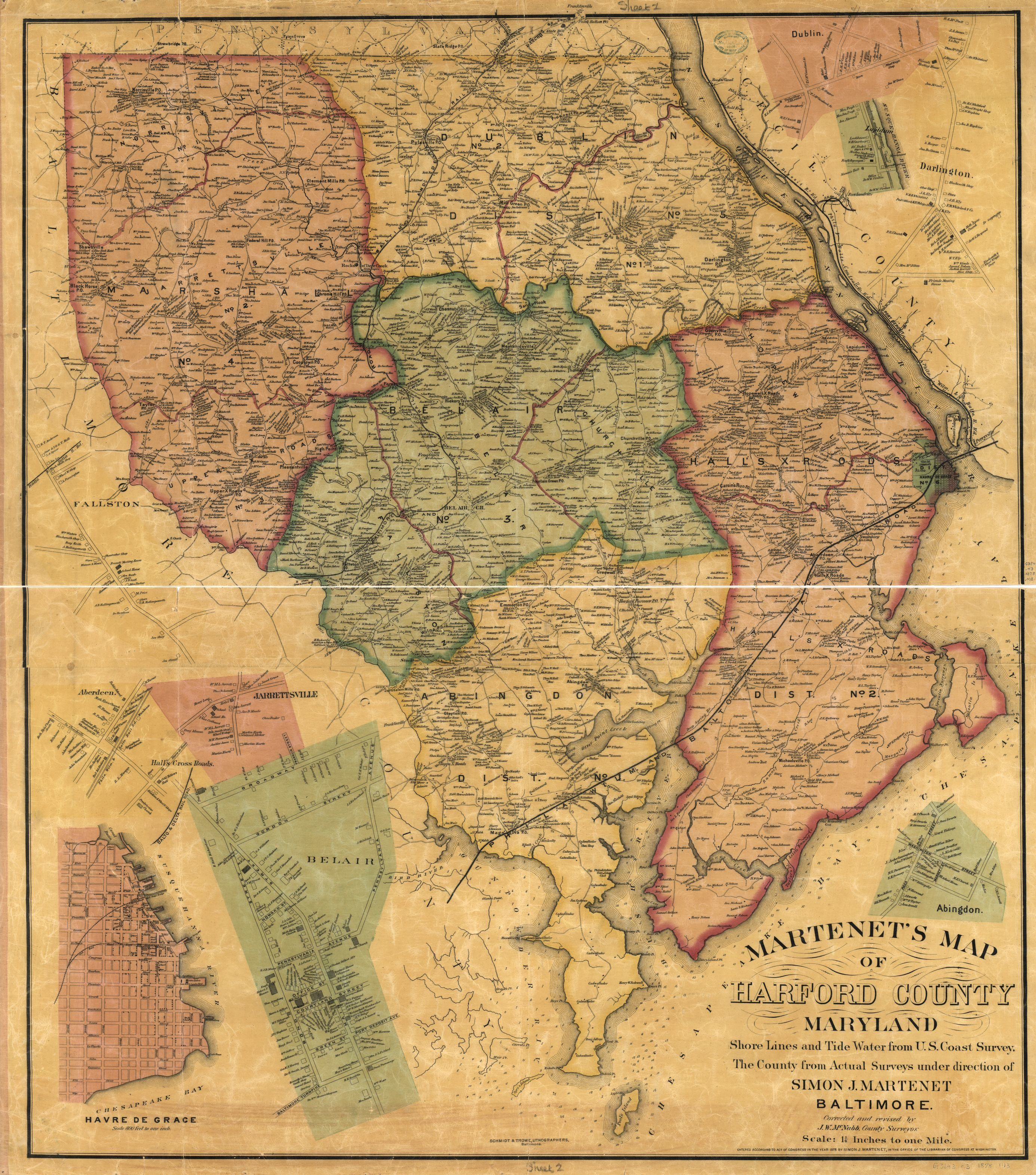 How to make a will in maryland, and what can happen if you don't. Martenet S Map Of Harford County Maryland Shore Lines And Tide Water From U S Coast Survey The County From Actual Surveys Library Of Congress
