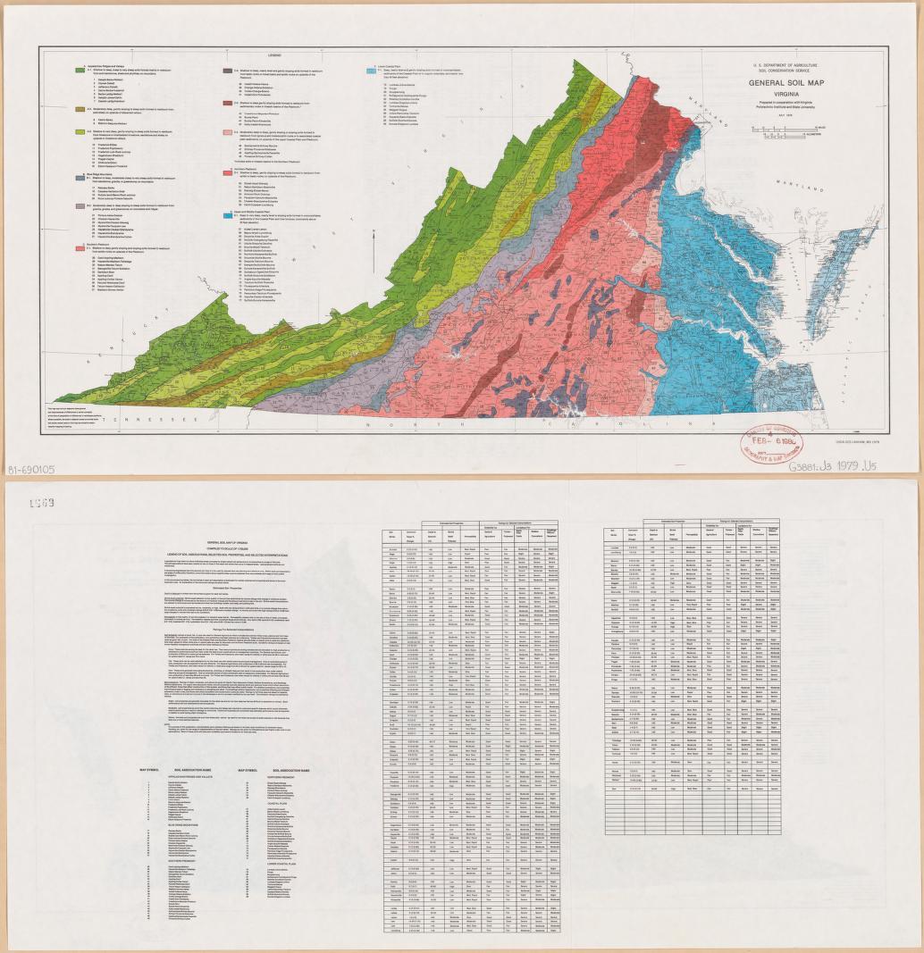 General Soil Map Virginia