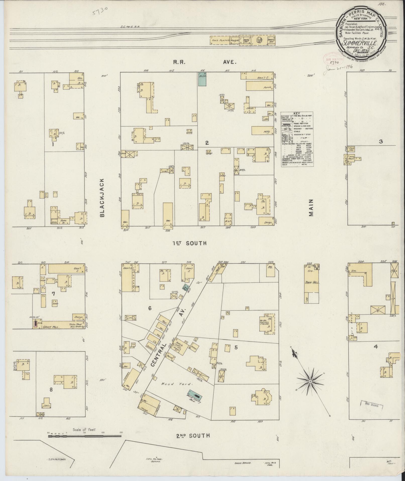 Sanborn Fire Insurance Map From Summerville Dorchester