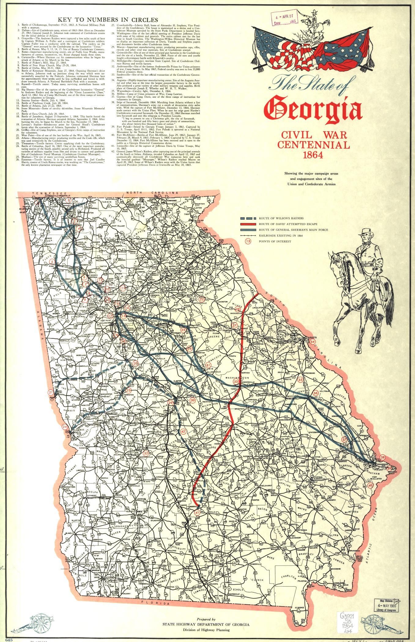 The State Of Georgia Civil War Centennial Showing