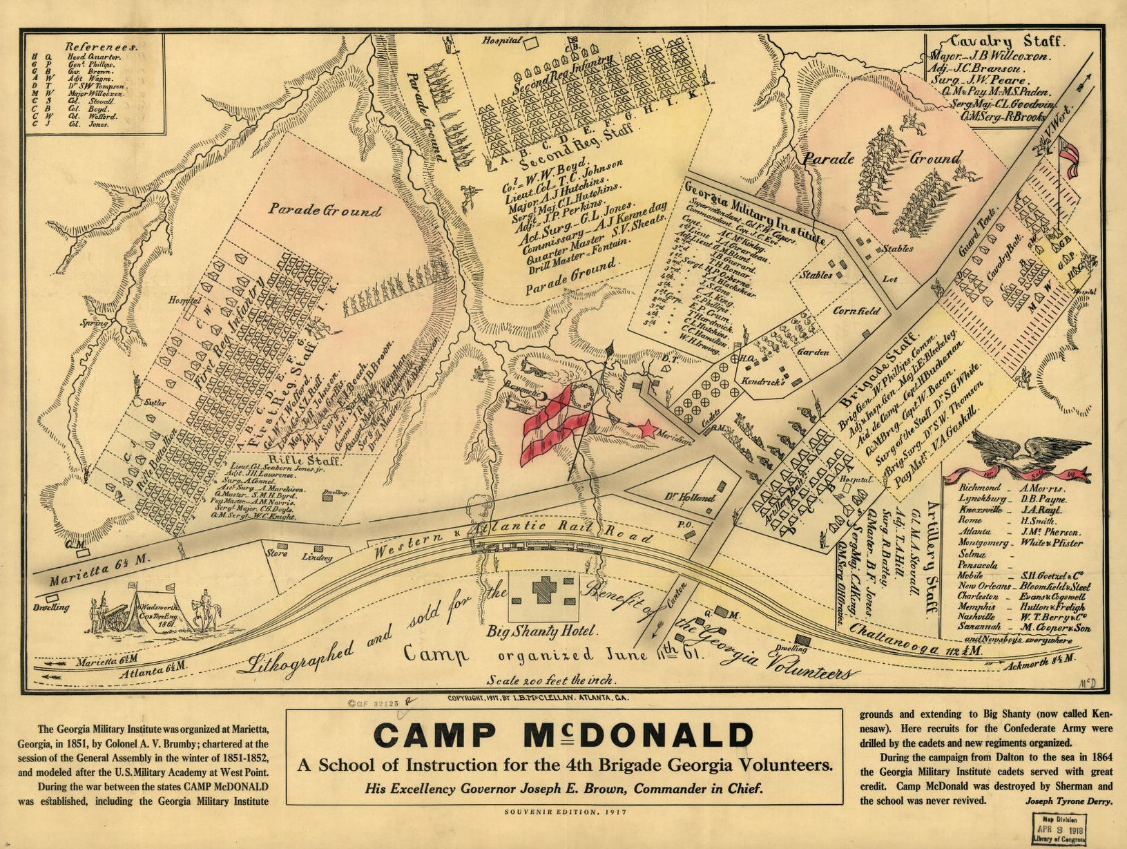 Camp Mcdonald A School Of Instruction For The 4th Brigade