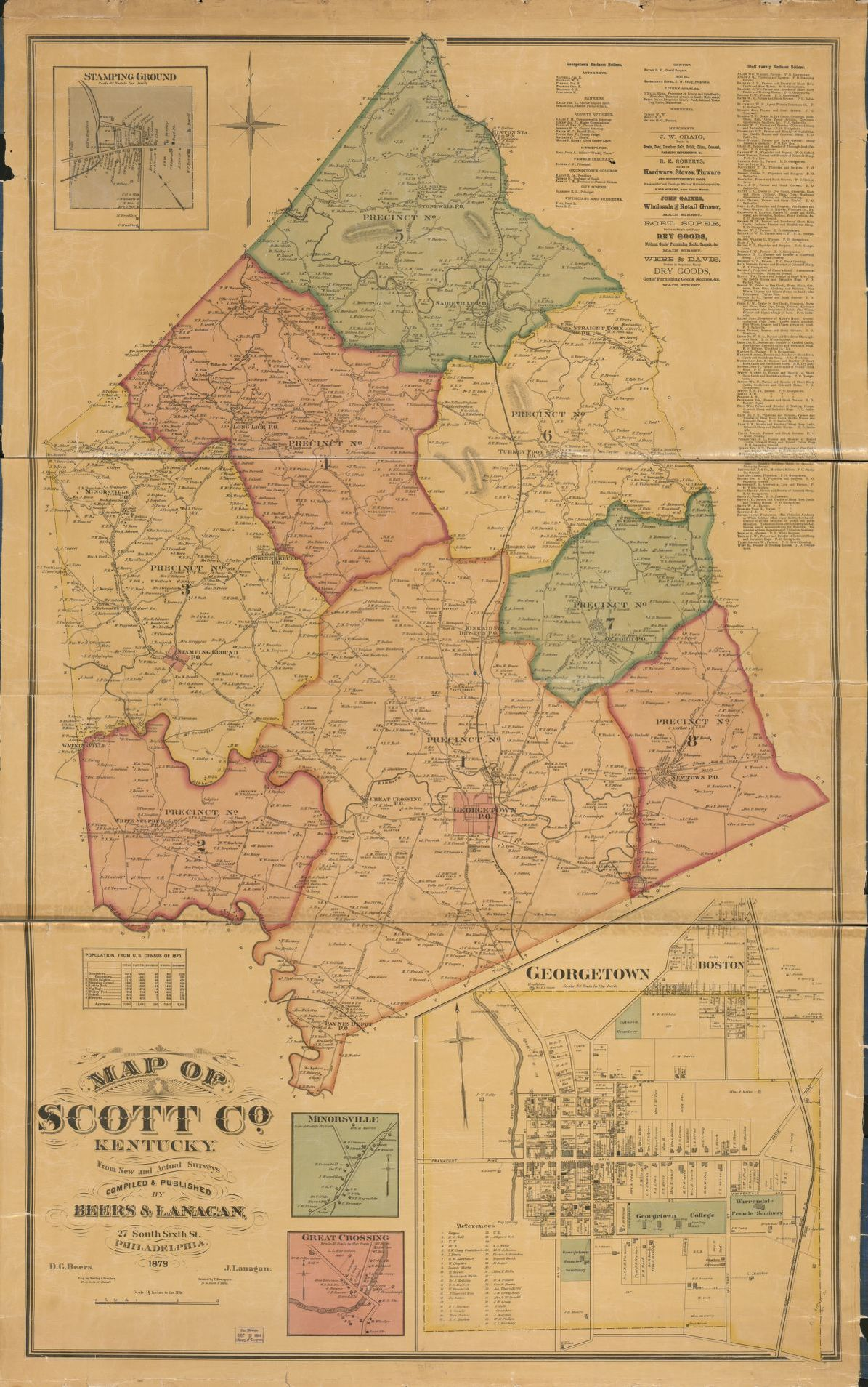 Map Of Scott Co Kentucky