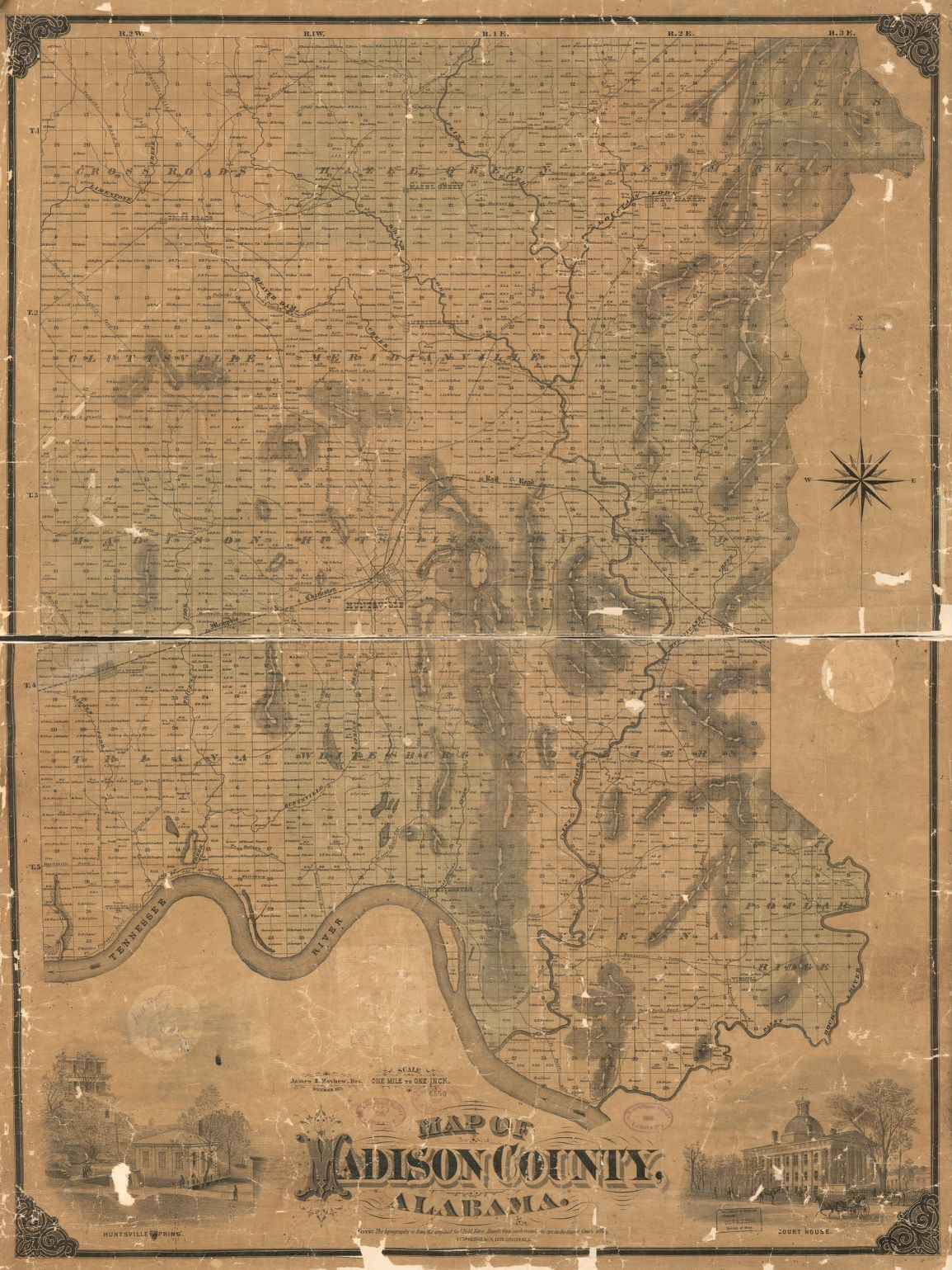 Map of Madison county  Alabama   Library of Congress