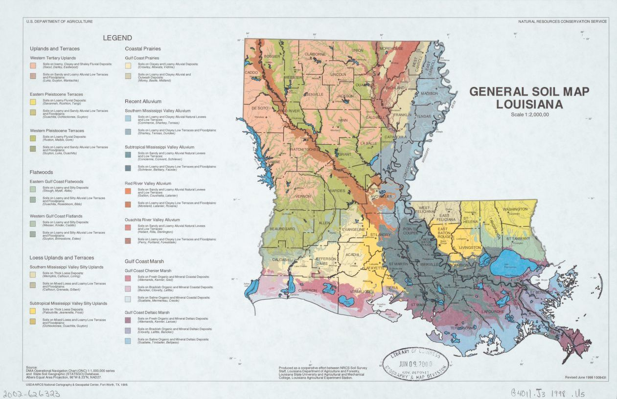 General Soil Map Louisiana