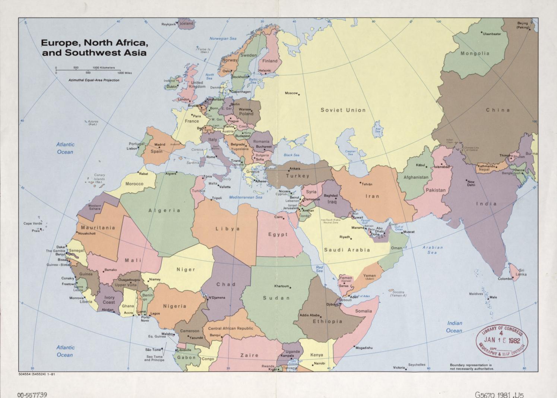 Map Eastern Hemisphere