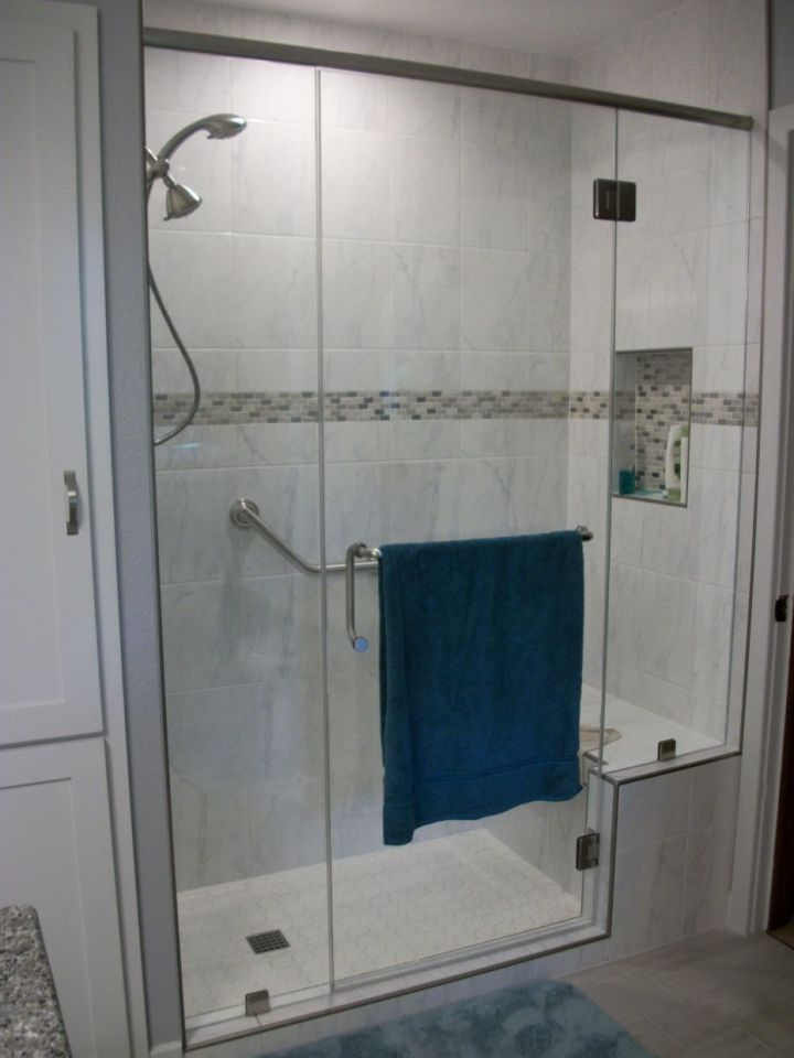 Carrara White Ceramic Tile Shower N Koehn Tile El