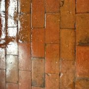 Quarry tile during sealing