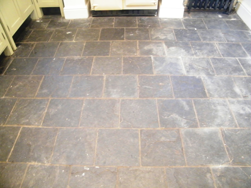 Slate Kitchen Floor Knypersley Staffordshire Tile