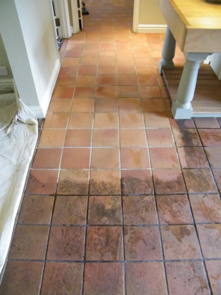 Quarry Tile Floor For Mrs Connelly In Stapleford Nr Tarvin Cheshire - Cory tile flooring