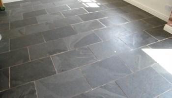 Slate kitchen floor Knypersley, Staffordshire. - Tile & Stone Medic