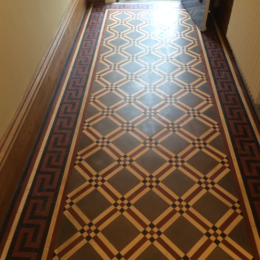 Victorian Minton Floor Tile Cleaning Sealing Polishing Mrs