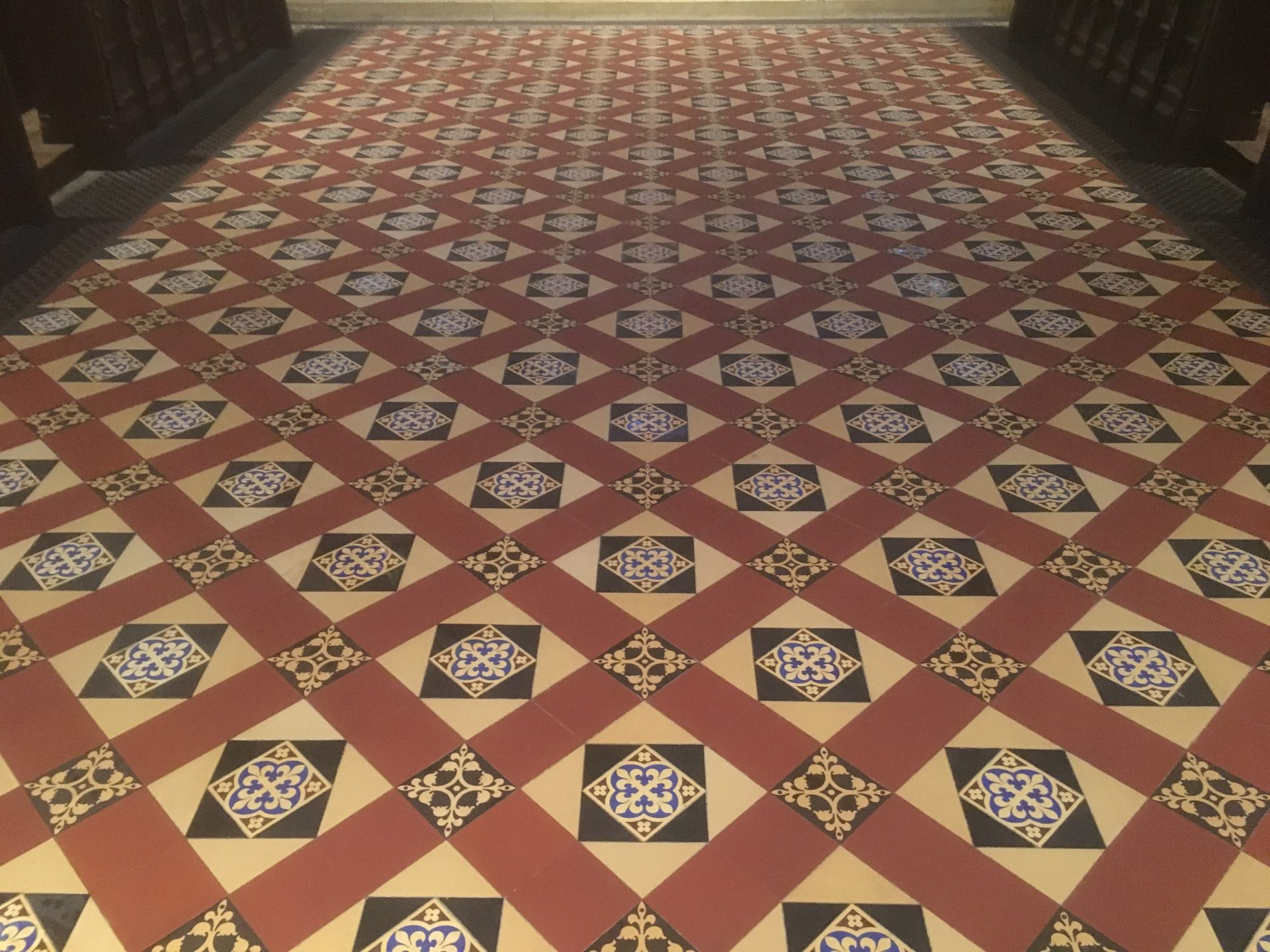 Victorian Minton Floor Tile And Quarry Tile Stripping Cleaning And