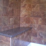 Porcelain subway tile shower in Red Feather Lakes, Colorado