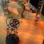 Backlit kitchen onyx slab countertop with honey onyx backsplash