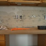 Installation Porcelain and Glass Kitchen Backsplash