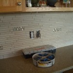 Porcelain and Glass Kitchen Backsplash Installation in Windsor